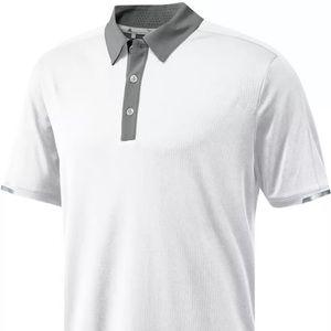 Adidas Climachill Stretch Polo White Gray XX-Large